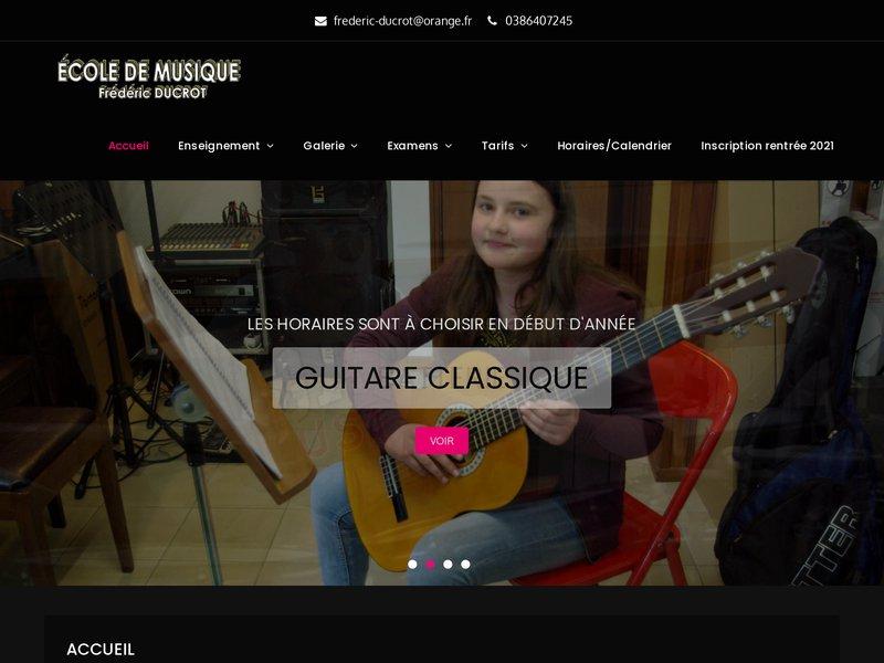 Ecole de musique Frédéric DUCROT Moneteau Tel 03 86 40 72 45