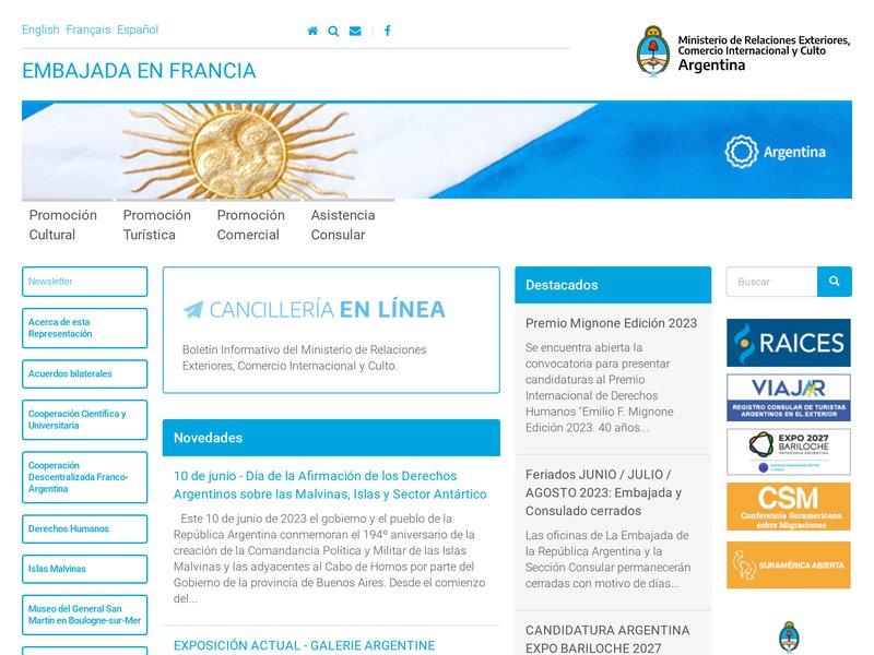 Ambassade Argentine