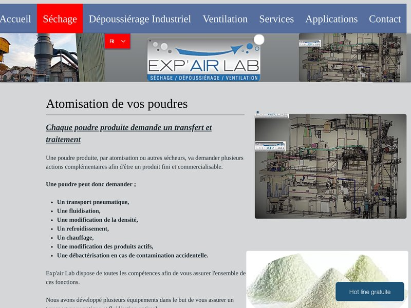 Exp'air Lab poudres