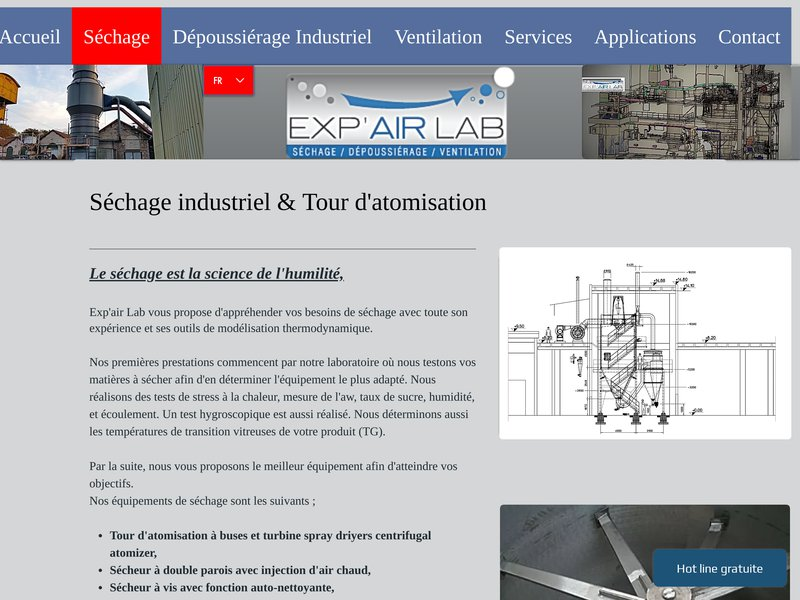 Exp'air Lab séchage