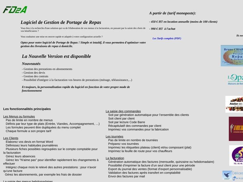 Bienvenue sue le site de FD2A Informatique (Vosges-Lorraine) assistance informatique, formation et developpement access et bureautique
