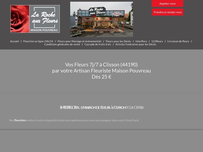 Vos fleurs à Clisson par votre Artisan-Fleuriste INTERFLORA maison Pouvreau La Roche aux Fleurs