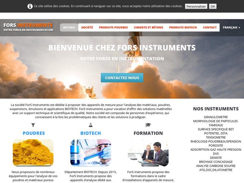 Analyseur de particules, poudres, produit Biotech, chimie du ciment