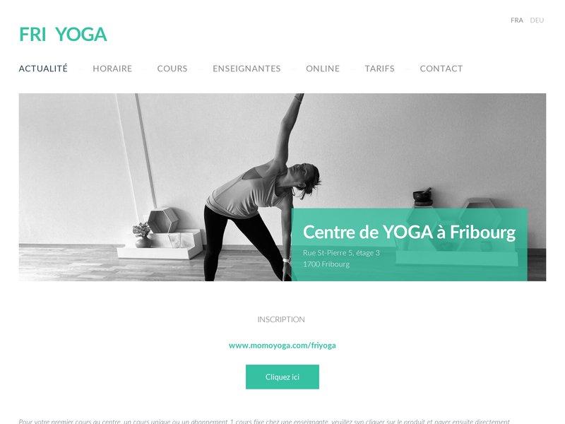 Centre de Yoga à Fribourg Fri Yoga
