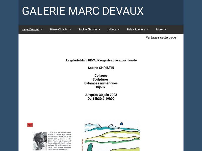 GALERIE MARC DEVAUX