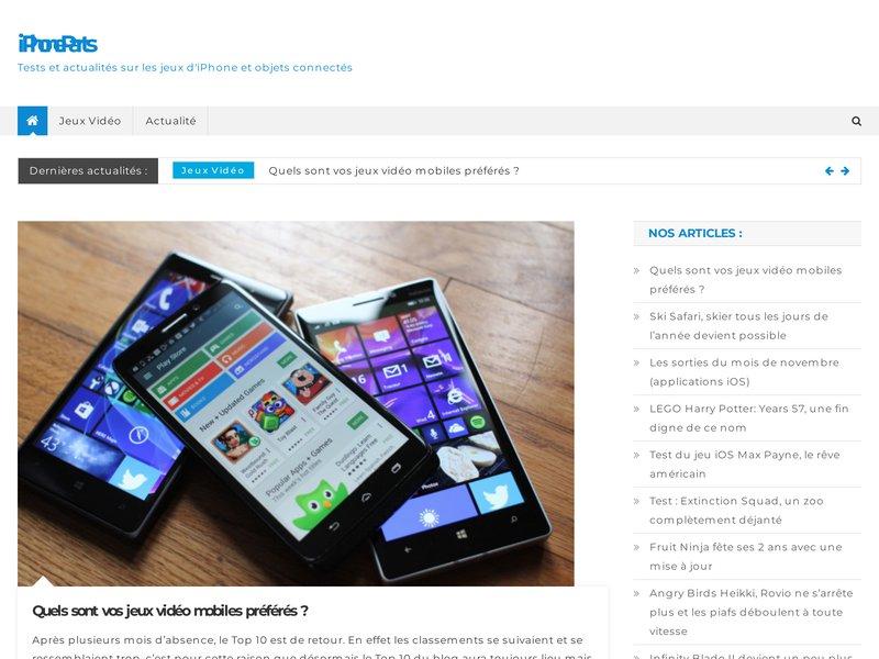 Boutique spécialisée dans la vente de pièces détachées pour la réparation d'iPhone, iPad et iPod
