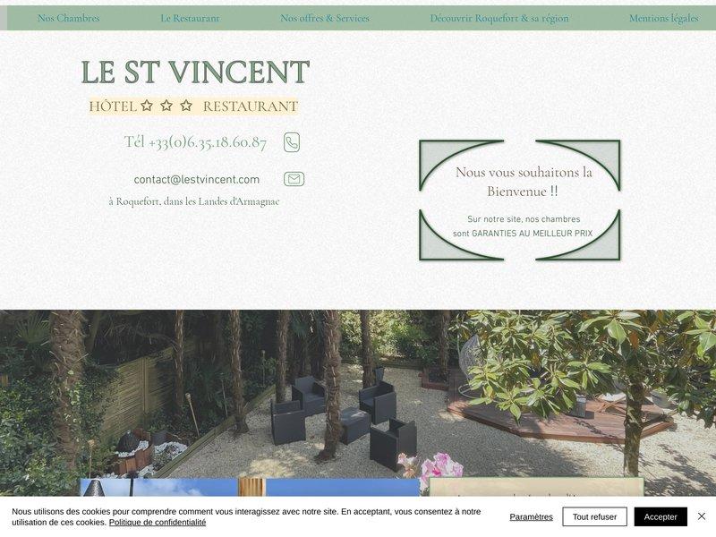 Hôtel Restaurant dans les Landes à Roquefort (40). Hôtel Landes - LE SAINT VINCENT