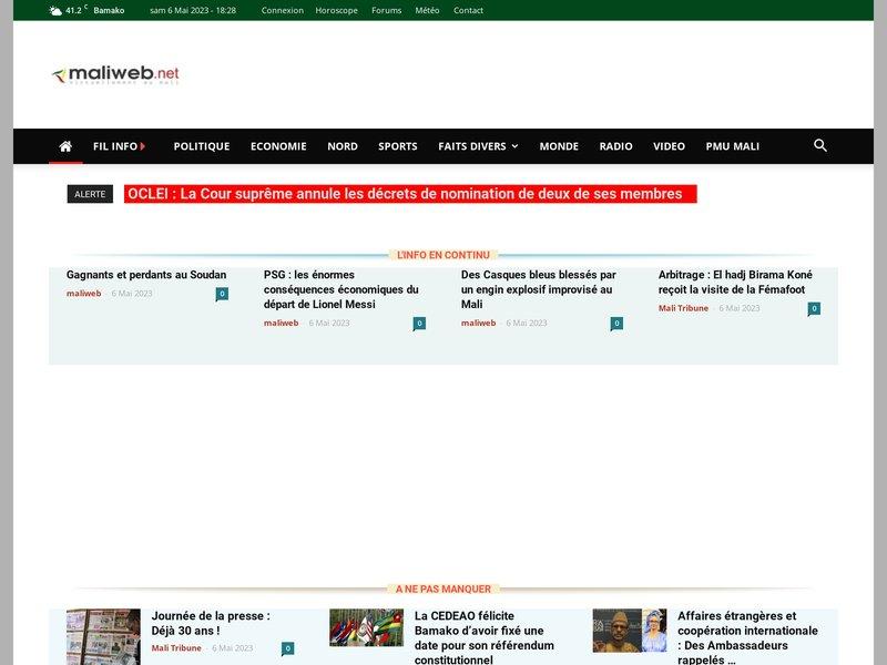 Maliweb.net - actualité et nouvelles du Mali