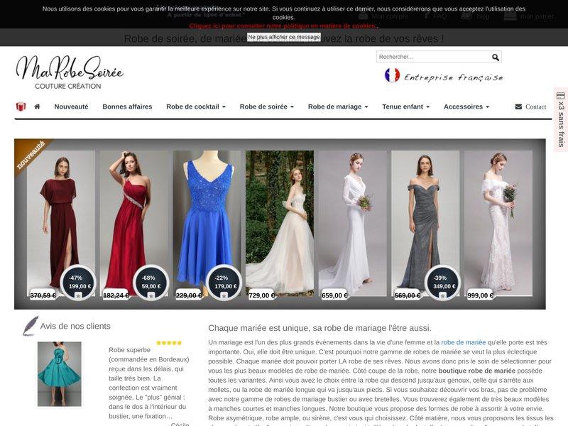 Marobesoiree.fr, boutique de robe de soirée, robe de cérémonie et robe de mariée