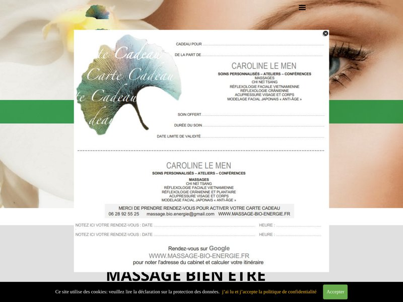Massage bio energie, Caroline Le Men