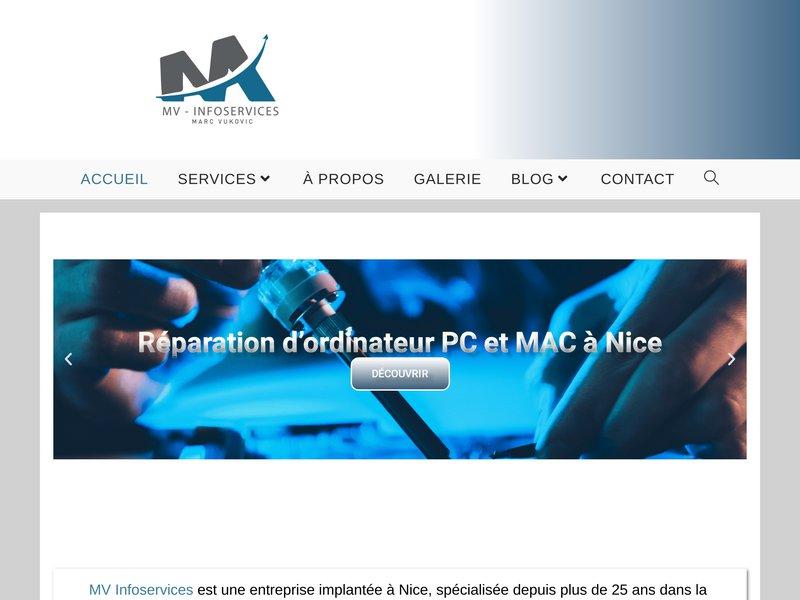 Réparation Ordinateur Nice - MV-Infoservices - 06.59.12.21.94 - Service de dépannage Informatique Pour particuliers et professionnels.