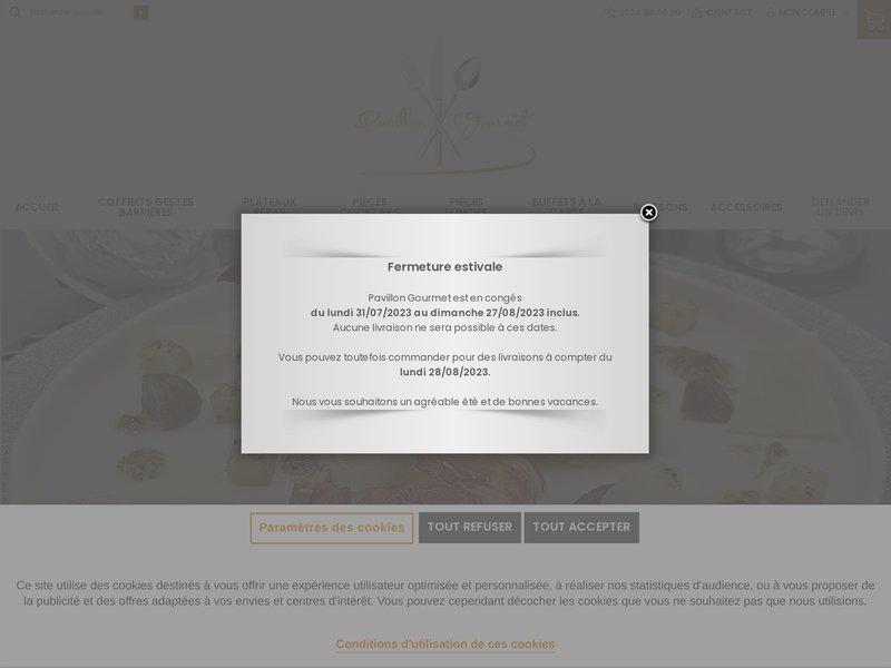 PAVILLON GOURMET - traiteur Paris, mariage, cocktail, buffet, réception, livraison plateaux repas