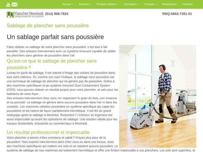 Plancher Newlook 514 968-7824 – Sablage de plancher dans Lanaudière, Laval Laval, Montréal, Rive-Nord, Rive-Sud