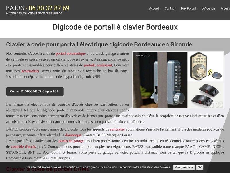Digicode de portail à clavier Bordeaux