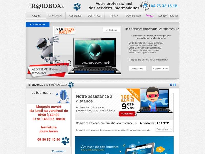 Raidbox est une société de services à la personne présente à Davézieux, et spécialisée dans les services informatiques  à domicile.