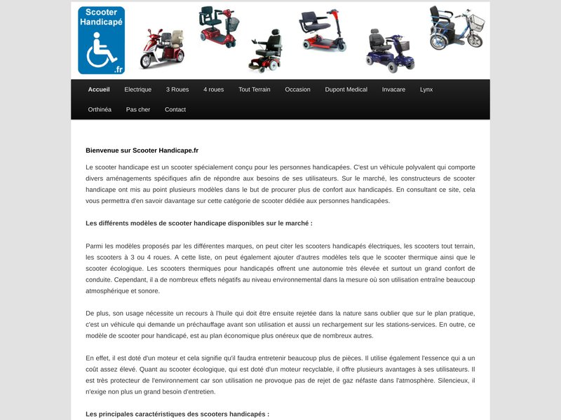 Scooter Handicape | Tout sur ScooterHandicape.fr