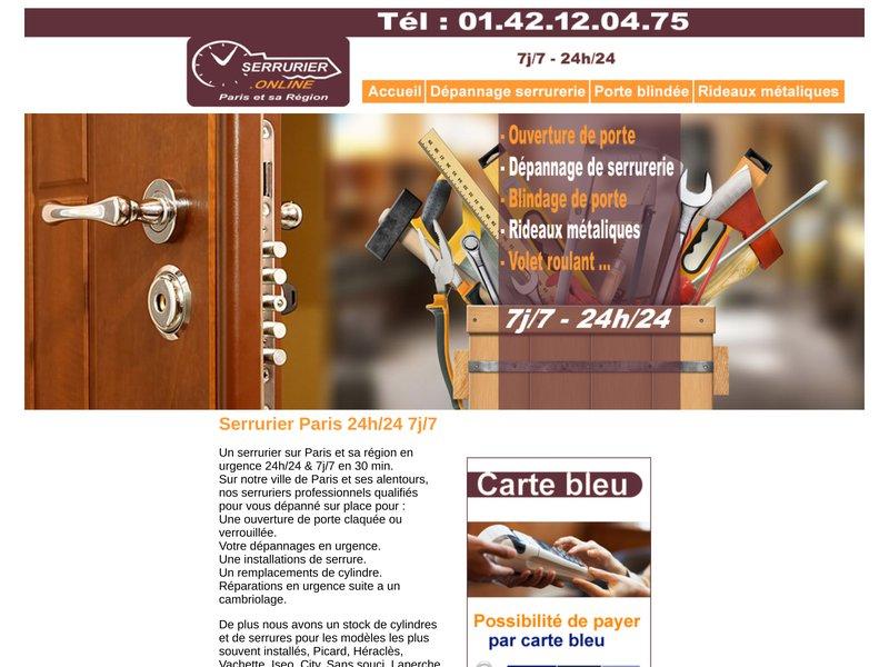 Serrurier Online 01.42.12.04.75