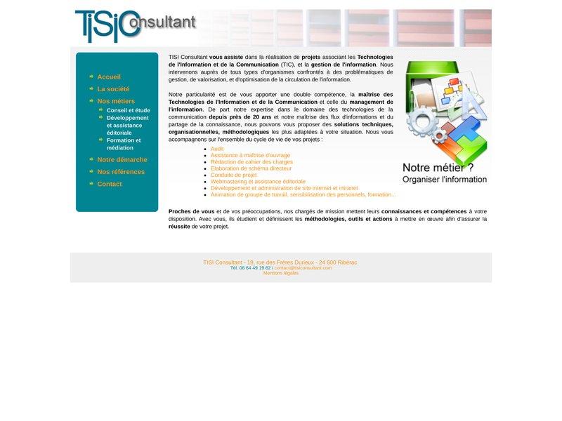 TISI Consultant - Technologies Internet et Systèmes d''Information - Cabinet d''étude et d'ingénierie informatique - 33 Cenon - France