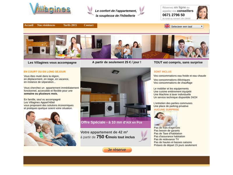 Location d'appartements meublés sur Aix en Provence, St Cannat, Rousset