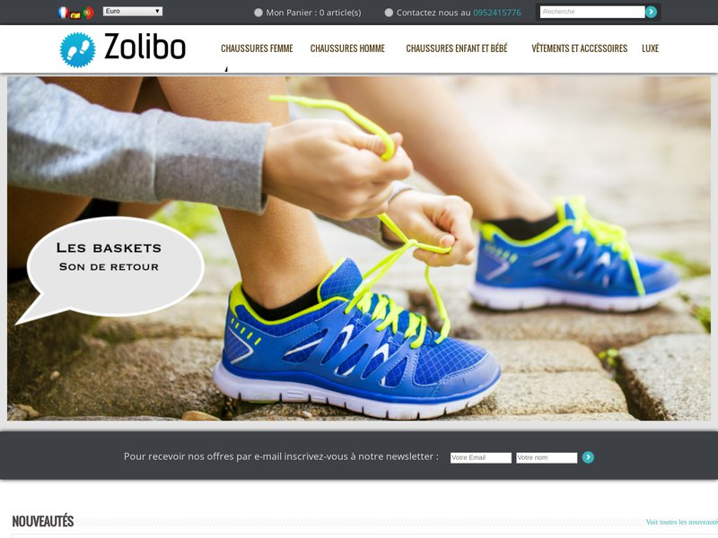 Loja online de sapatos para senhora homem e crianças