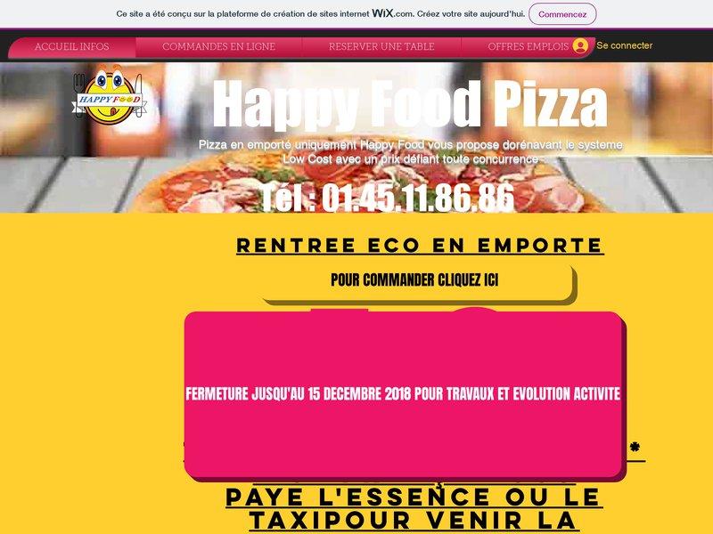 Happy food pizza Saint Maur. Emporté, Livraison ou sur place, de pizzas salades entrées boissons desserts et glaces