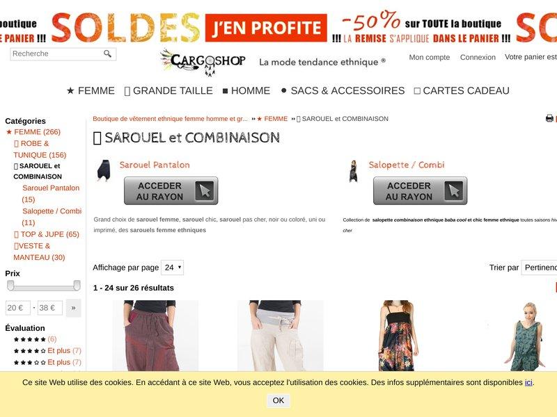 SAROUEL & COMBINAISON - Vente Pantalon sarouel et salopette ethnique pas cher