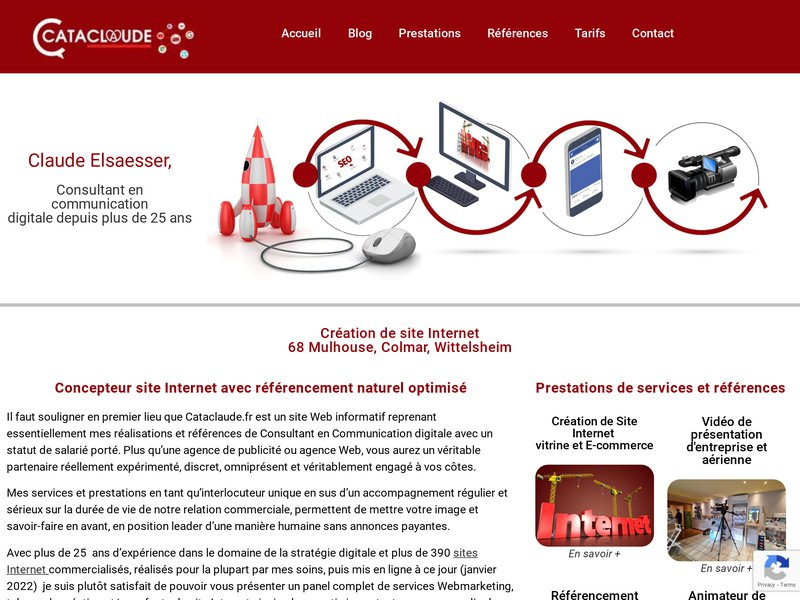 Cataclaude Création et Référencement de Site Internet | 68 Mulhouse Colmar