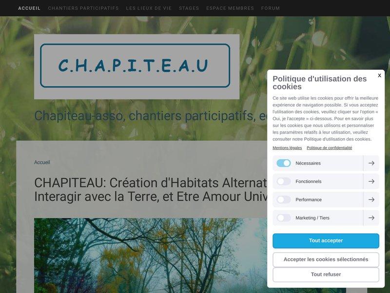 Création d'Habitats Alternatifs Pour Interagir avec la Terre, et Etre Amour Universel. Organisons chantiers participatifs, et gestion d'eco-lieu.