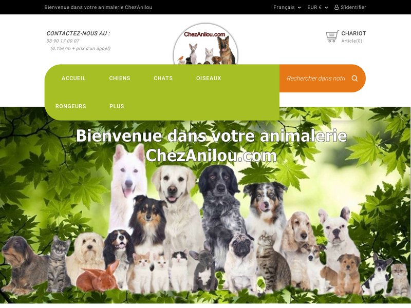 Animalerie en ligne chezanilou