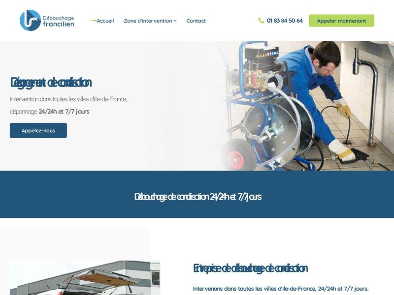 Dégorgement Canalisation - Débouchage Francilien