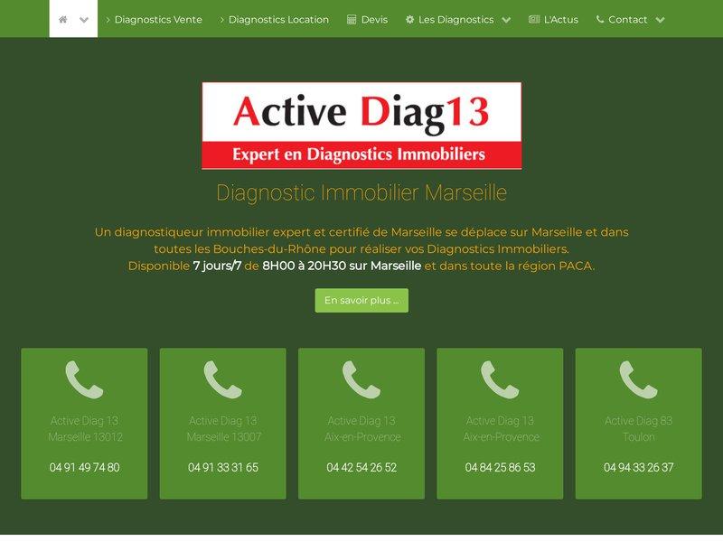Expert en Diagnostics Immobiliers sur marseille et toute la région PACA. Choisissez Active diag13, la qualité d'un service au plus juste prix !