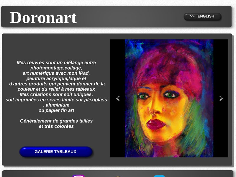 DoronB Artwork  Colorful Photomontage print on canvas et paint
