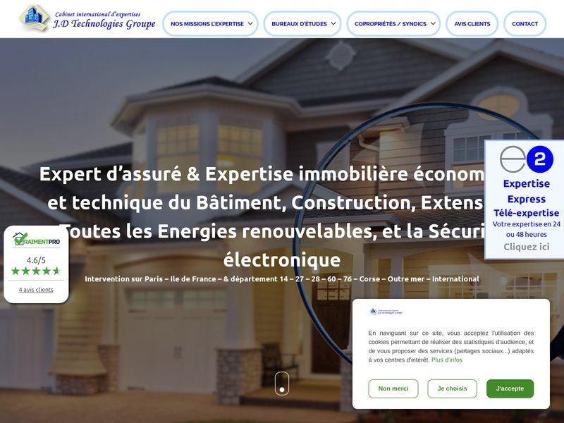 Expertise immobilière et expertise en bâtiment, construction, et toutes les énergies renouvelables.