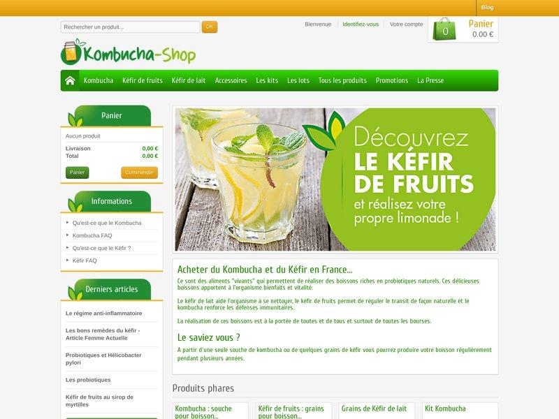 Boutique en ligne de probiotiques naturels : Kombucha et kéfir