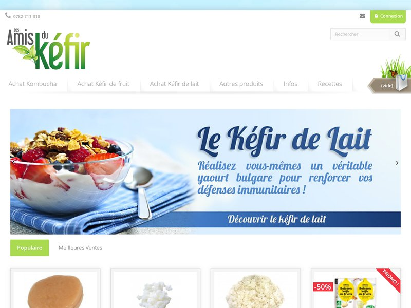 Avec Les Amis du Kéfir découvrez les probiotiques naturels : kéfir, kéfir de lait, kéfir de fruits, kombucha