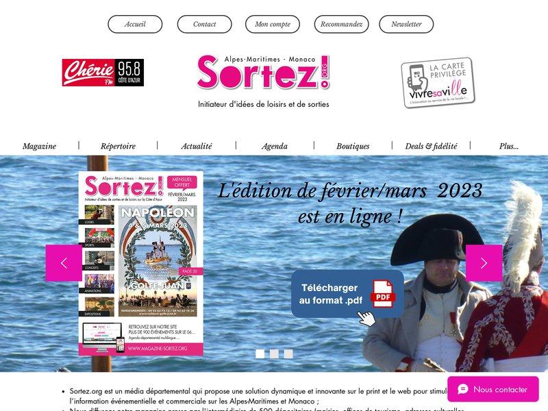 Le magazine Sortez, l'agenda et l'actualité des sorties et loisirs sur les Alpes-Maritimes, Monaco et le Var-Est