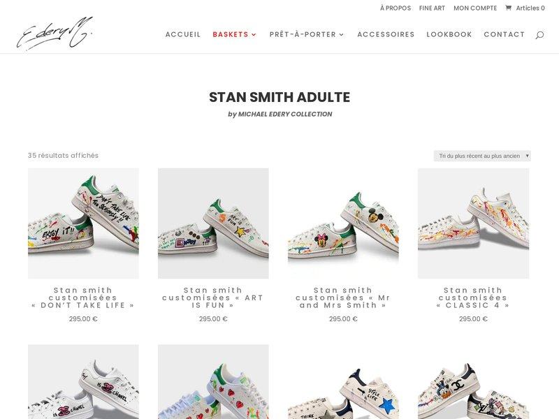 La cultissime Stan Smith Adidas revisitée par Michael EDERY