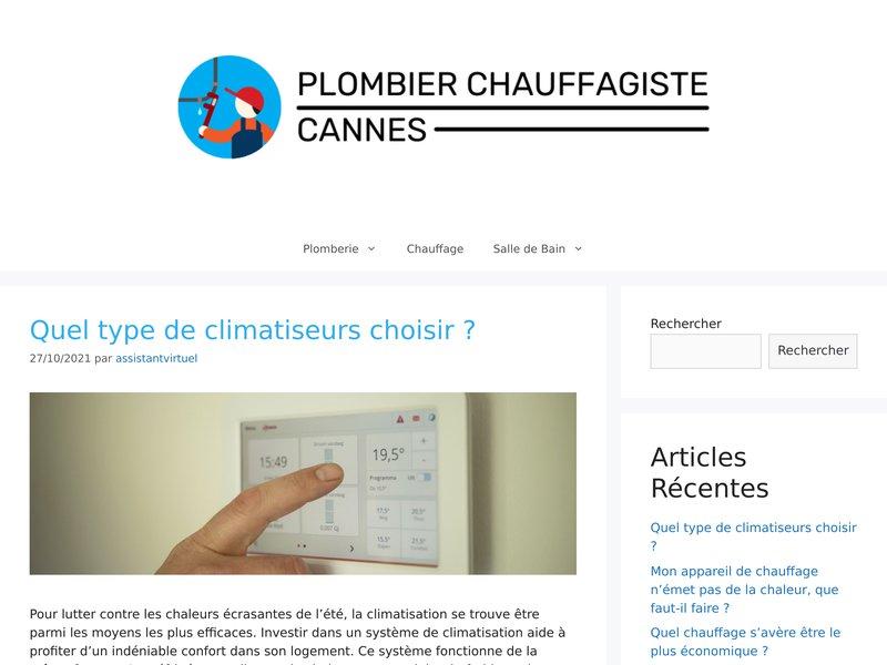 Plombier professionnel Cannes - Plombier chauffagiste cannes,