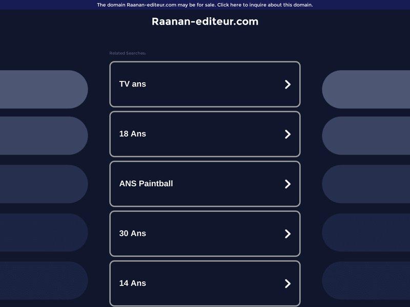 Raanan Editeur