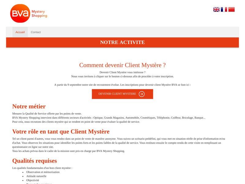 BVA Mystery Shopping - Recrutement Client Mystère