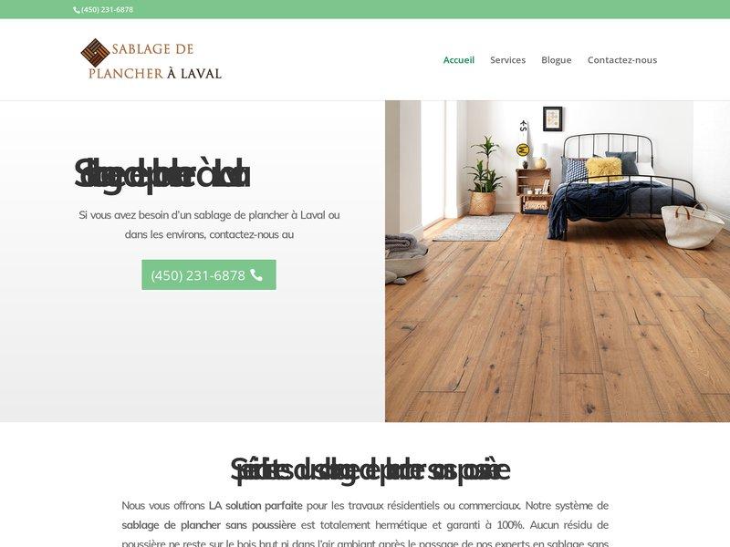 Sablage de plancher à Laval | Les experts du sablage de plancher sans poussière