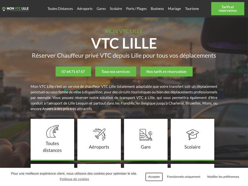 Réservation chauffeur privé vtc à Lille et transfert gare et aéroport de Lille Lesquin