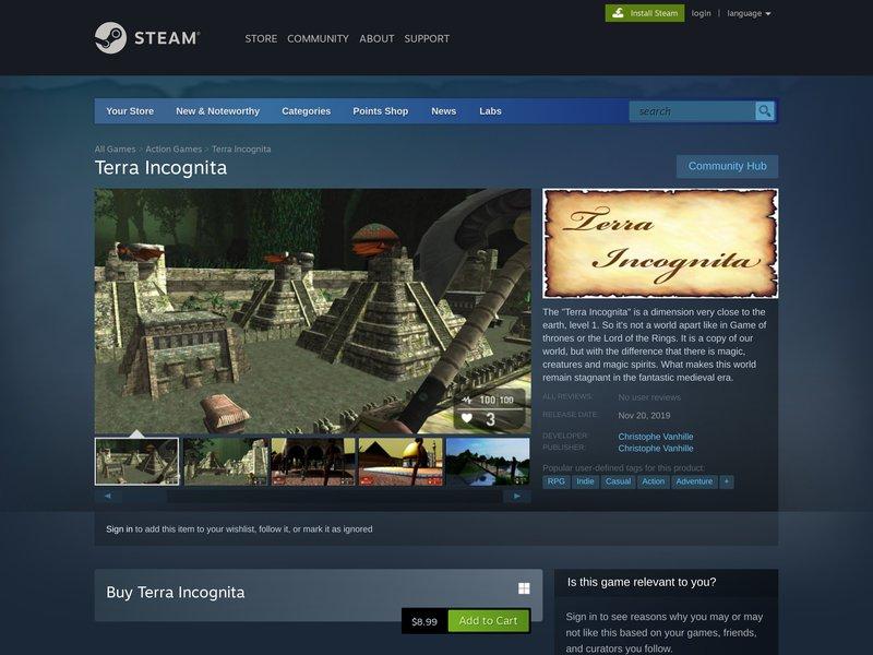 Terra Incognita - Jeu-Vidéo Steam