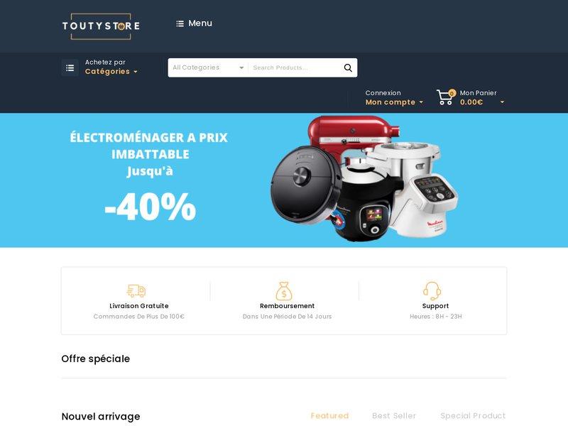 ToutyStore - Meuble, Électroménager, High-Tech, Jardin et Bricolage