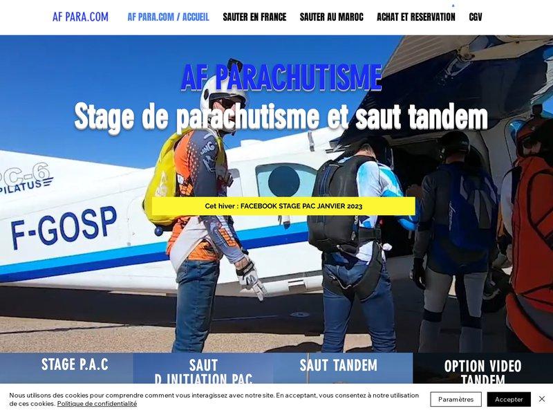 AF PARA.COM Saut en parachute et stage en région Rhône-Alpes avec Af PARA.