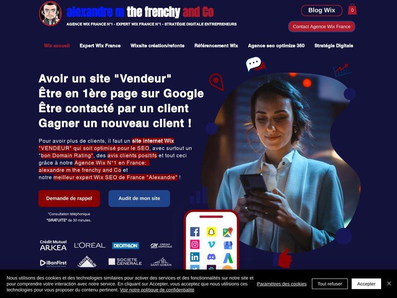 Alexandre m the frenchy, community manager freelance Marseille, formateur expert Wix dans la création et le référencement de sites internet WIX.