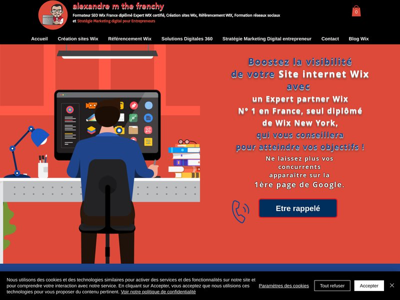 Formateur SEO Wix diplômé expert wix certifié dans le Référencement Wix la création de sites wix avec alexandremthefrenchy à Marseille et en France et le monde.