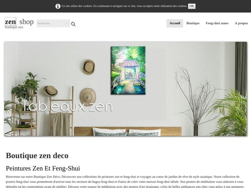 Boutique ésotérique Déco zen feng-shui, New age. Peintures, posters d'art feng-shui et zen, musiques relaxation.Conseils déco feng-shui - Esoteric shop Zen feng-shui decoration, New age art