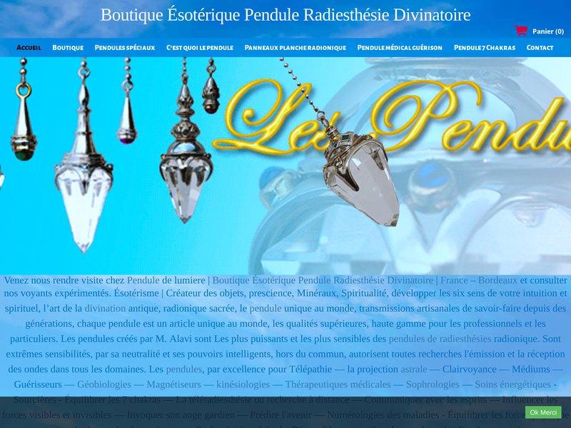 Boutique vente de pendule de radiesthesie professionnelle : Vente pendule de radiesthesie divinatoires – France sur Bordeaux - boutique pendule de la radiesthésie et ésotérique Professionnel