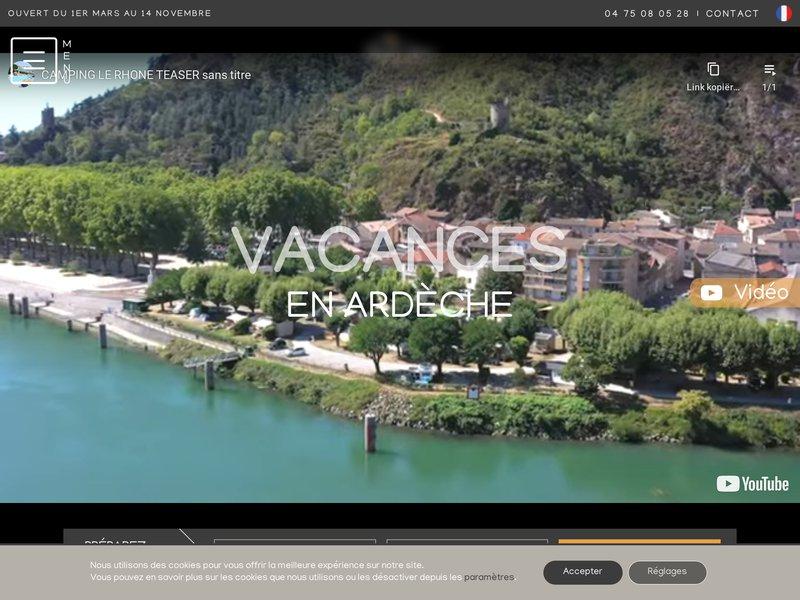 Le camping de Tournon en Ardèche vous accueil toute l'année. Proche du train de l'Ardèche et en plein centre-ville. Le camping idéal pour vos visites touristiques en Ardèche.